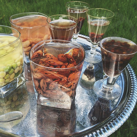 food and drinks on tray photo