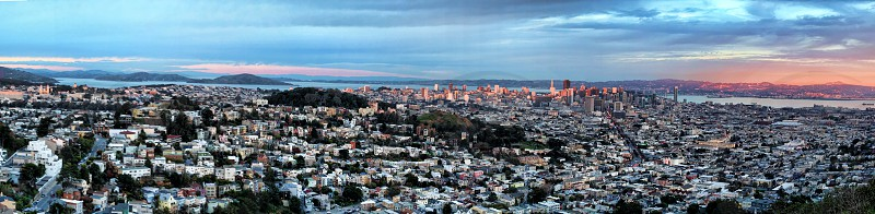 Panoramic view of San Francisco City photo
