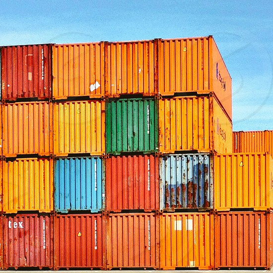Shipping containers multicolored  photo