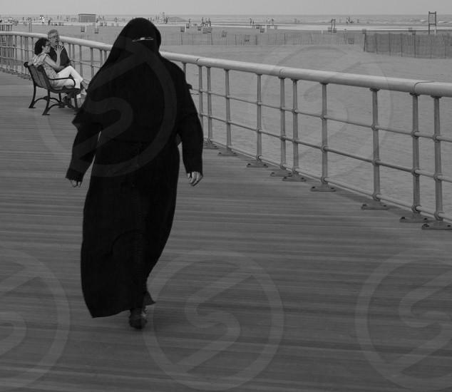 Beach Muslim Black & White People New York Long Island Jones Beach Cultural Mix photo