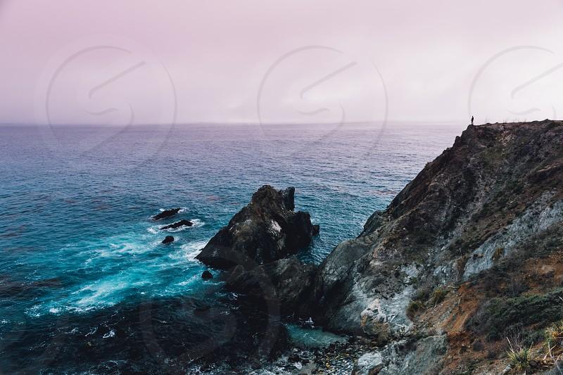 big sur california highway 1 one cliff coastal  photo