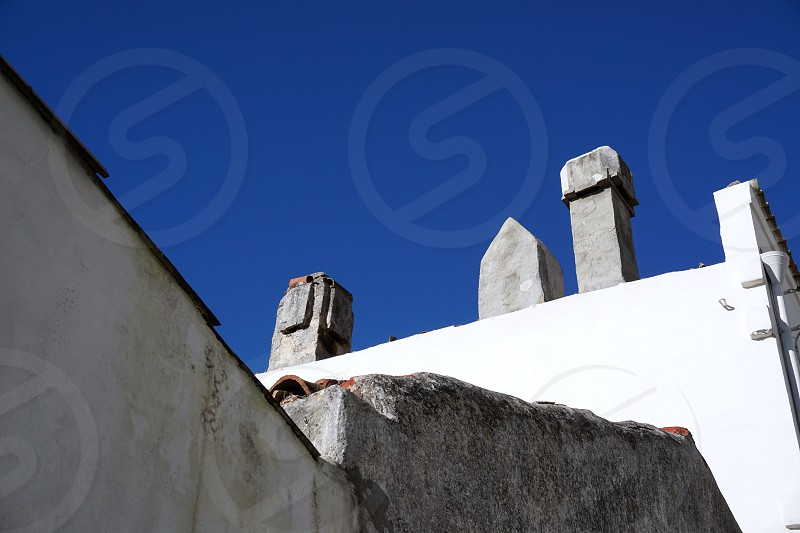 White against blue in Monte Sant'Angelo Italy photo
