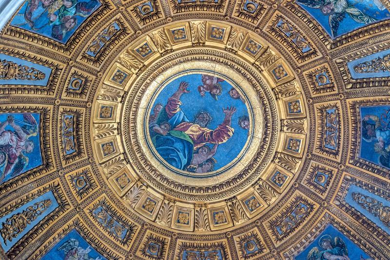 Church Ceiling - Rome Italy photo