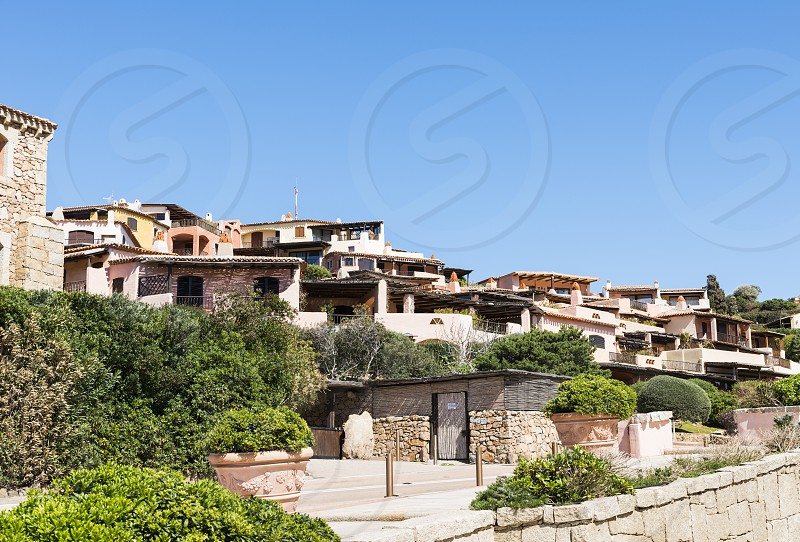 Porto Cervo on the italian island of sardinia the place where in the summer the rich and famous travel for their exclusive vacation photo