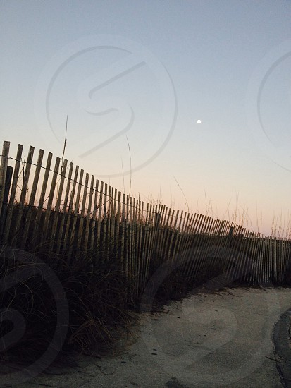 full moon at the pier photo