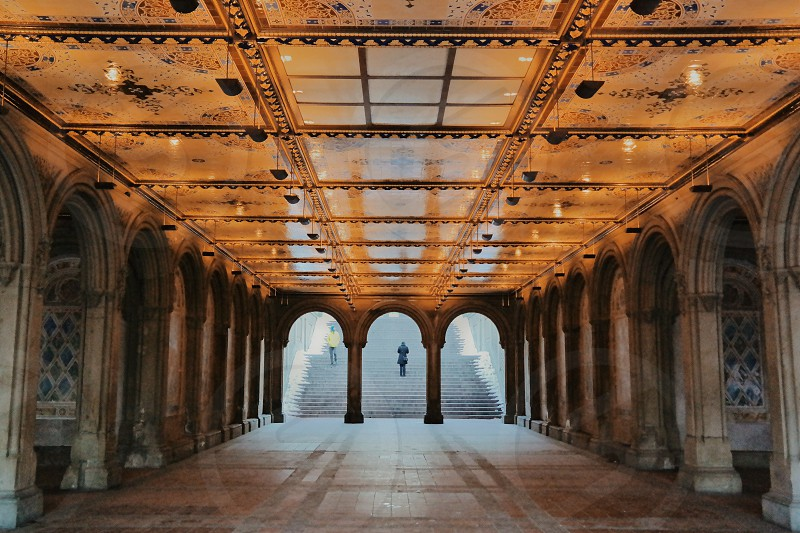Bethesda Fountain in the Winter NYC photo