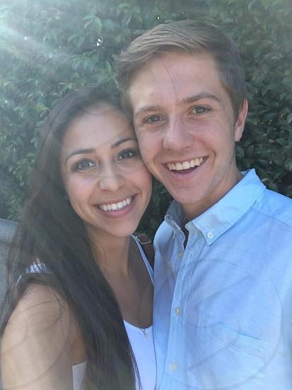 Selfie happy couple photo