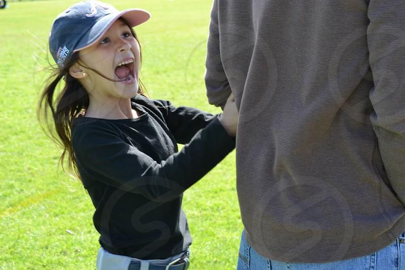 girl in black long sleeved shirt photo