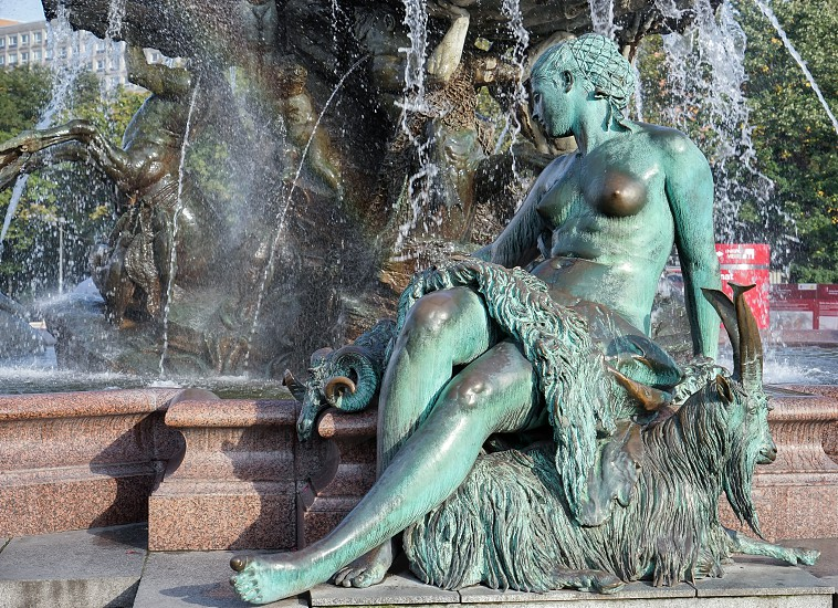 View of the Neptune  Fountain in Berlin photo