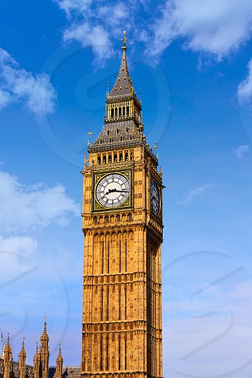 Big Ben Clock Tower in London at England photo