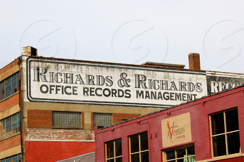 Old building near Nashville TN riverfront photo