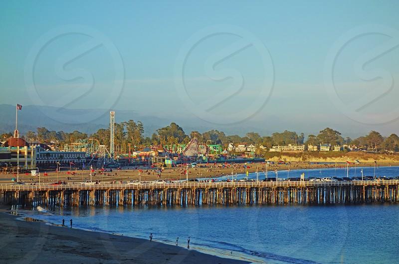 The Santa Cruz Wharf in California photo