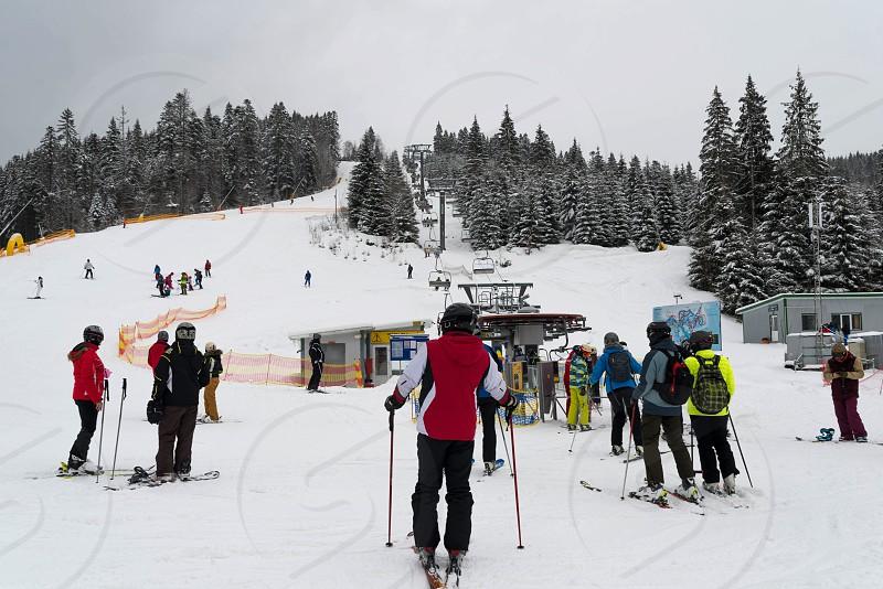 On the slopes of the ski resort photo