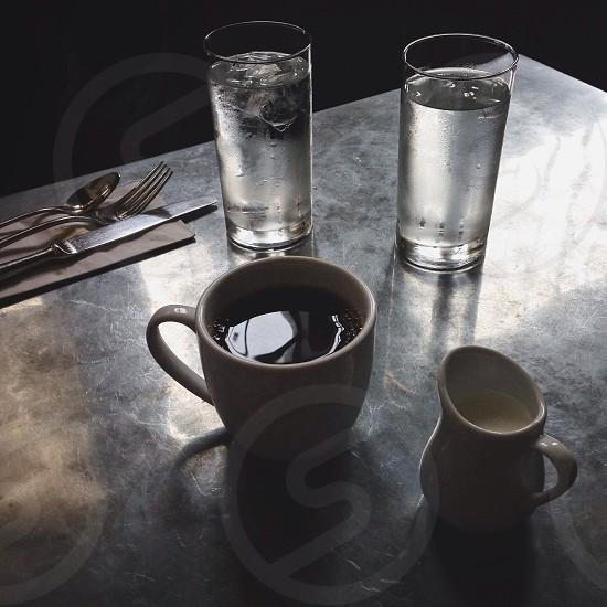Coffee and milk  photo