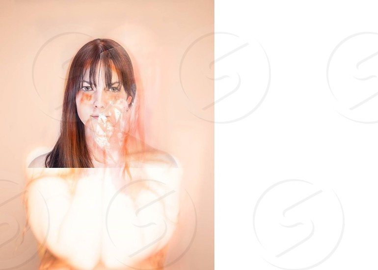 woman with paint glamour photography photo