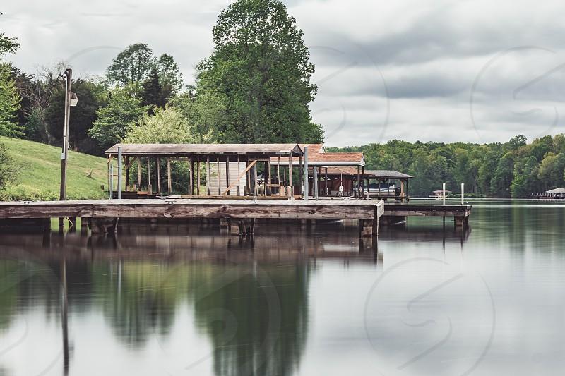Lake Virginia dock long exposure  photo