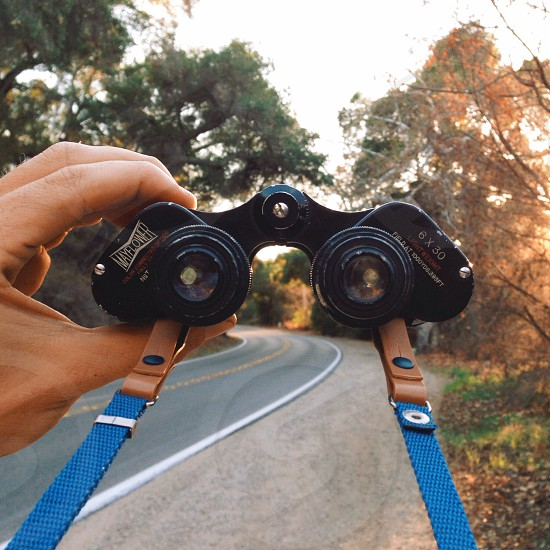 black binocular  photo