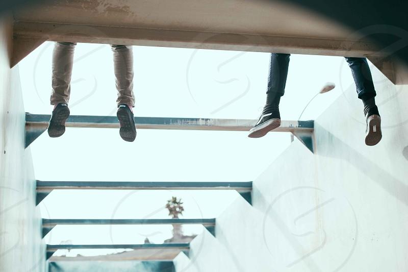 feet dangling photo