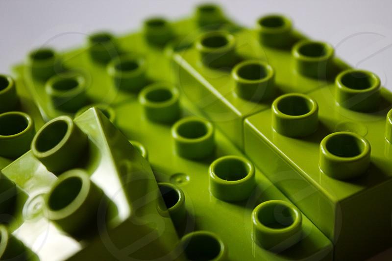 green block lego bricks plastics plastic playting building blocks photo