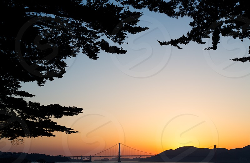 San Francisco Golden Gate Bridge Sunset photo