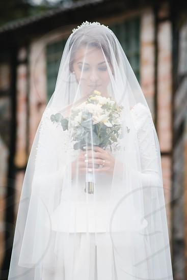 Bride with bouquet  photo