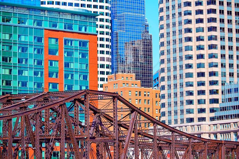 Boston Northern Avenue Bridge in Massachusetts USA photo