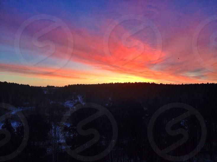 Sunset Sweden photo