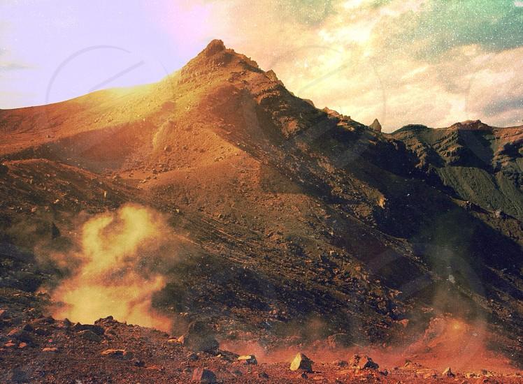 photo of a sand mountain photo