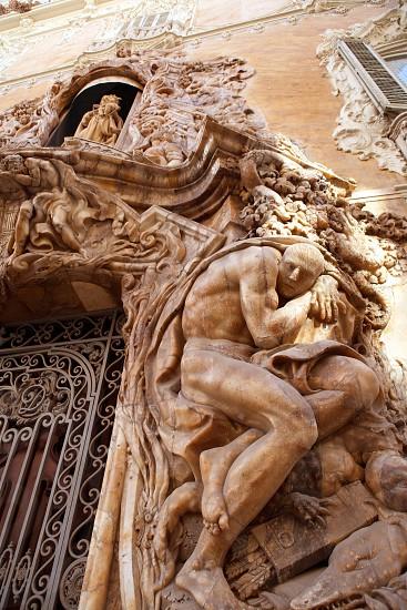 Marques de dos Aguas Palace with alabaster sculptures facade in Valencia Spain photo