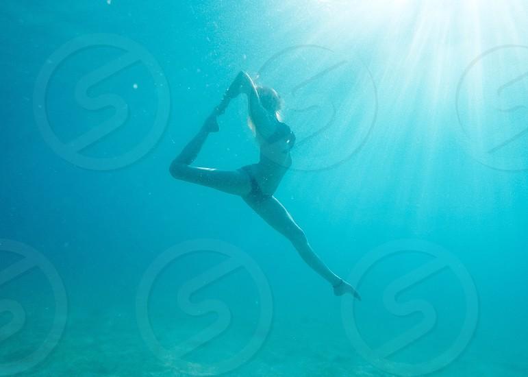 underwater yoga photo