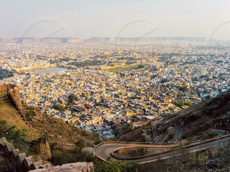 Jaipur nahargarh fort Rajasthan diaries travelling india sunset Jaipur city photo