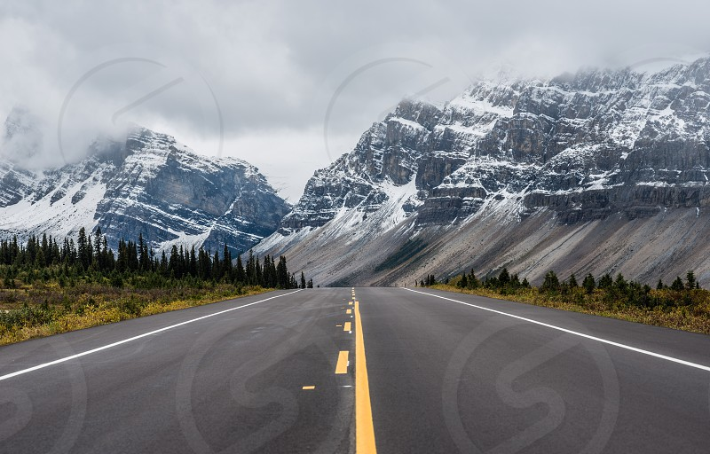 Roads from Canada and US photo