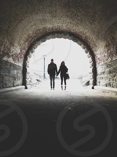 brick tunnel photo