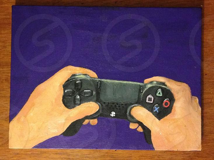 """Game on"" acrylic on canvas photo"