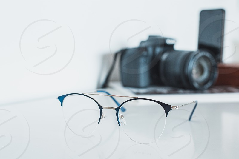 Glasses with camera and phone photo