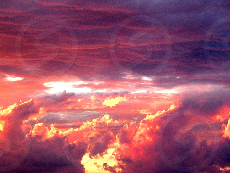 Chasing Fiery Clouds through the Sky photo
