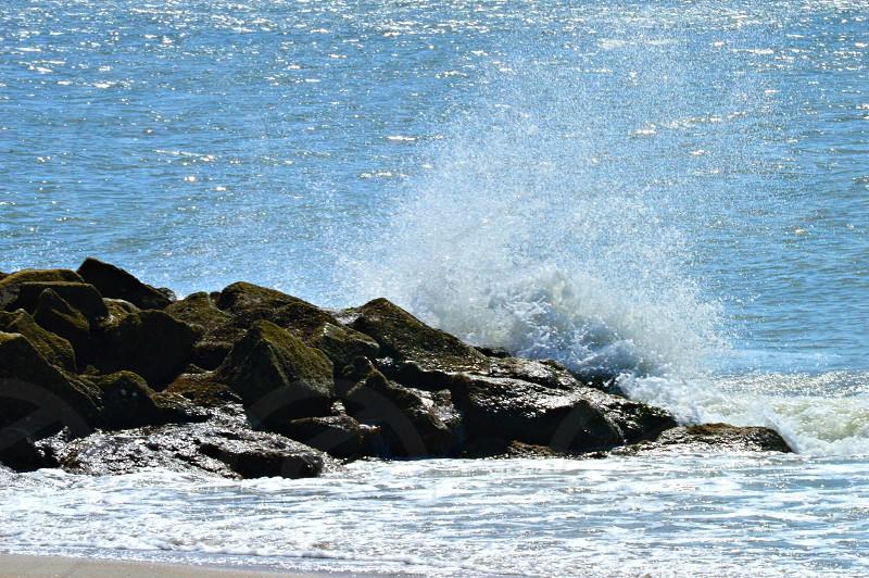 Ocean spray at Edisto Island SC photo