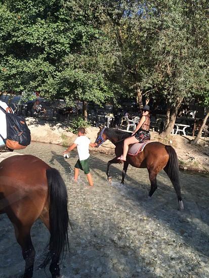 Riding  acheronta springs  Greece photo