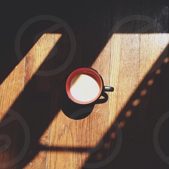 Morning coffee and shadows.. photo