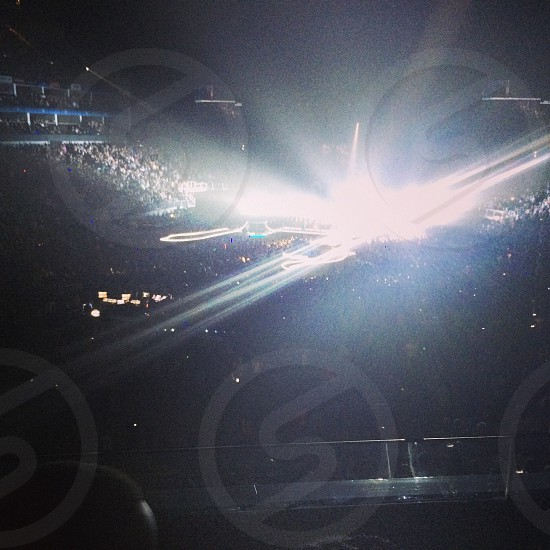 The O2 arena! Blinding lights.  photo