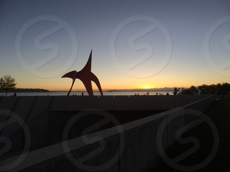 Seattle sunset/ olympic sculpture park    photo