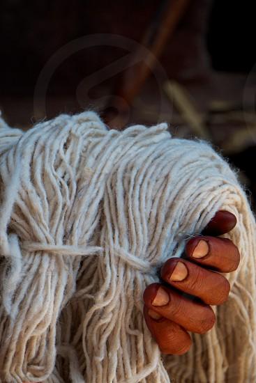 Hand of Yarn - Marrakech Morocco photo
