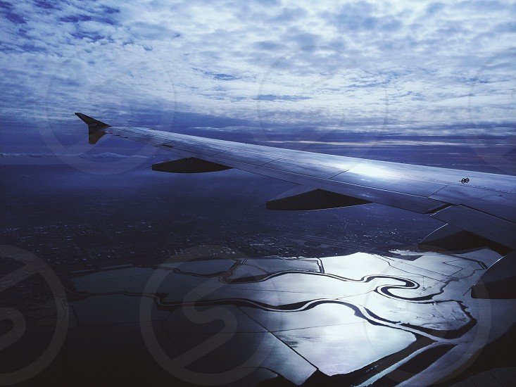 left wing of airplane photo