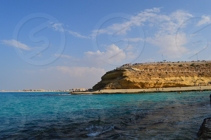 Agiba beach is a famous beach in Marsa Matrouh located in Egypt  photo