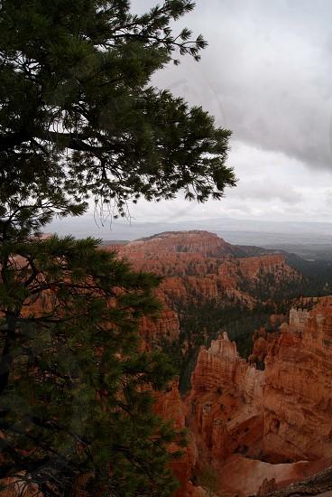 Bryce Canyon rain photo