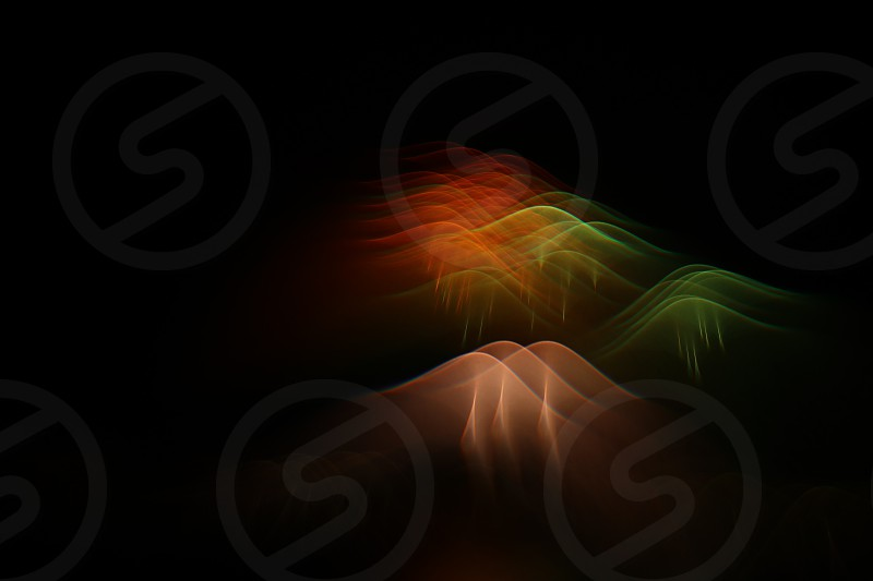 Fireworks light bending experimental optics ghostly shapes science fiction light painting. photo