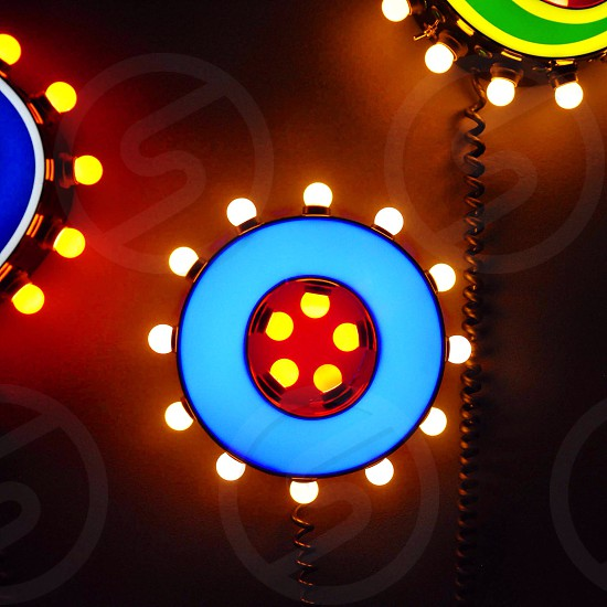 blue and red round decorative light photo