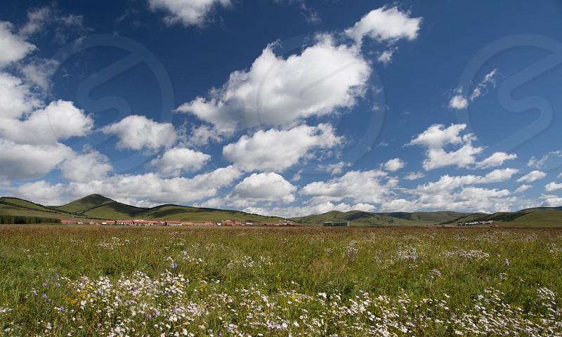 Prairie with cloud photo