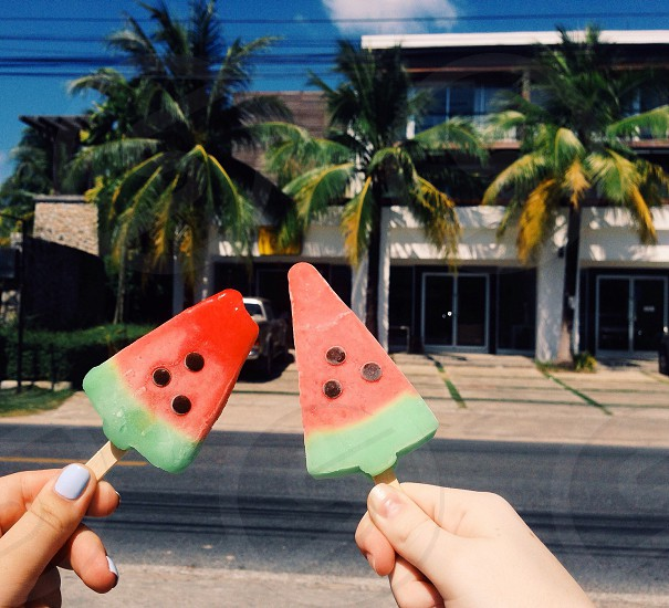 icecream thailand palm summer vacation travel photo