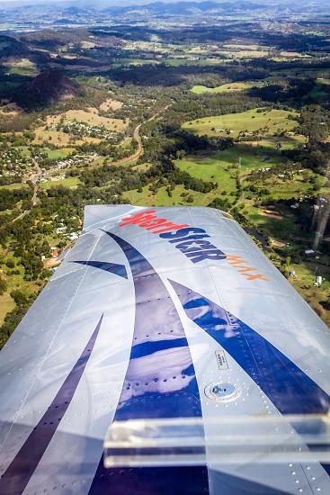 Wing banking aviation flight  photo